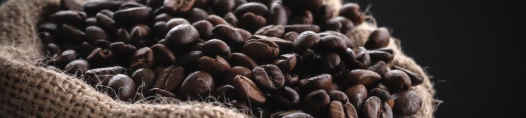 granos de cafe tostados en saco a granel