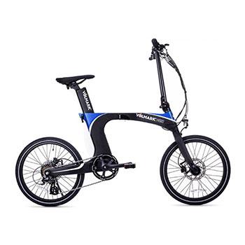 Bicicleta plegable marca VOLMARK EN AZUL